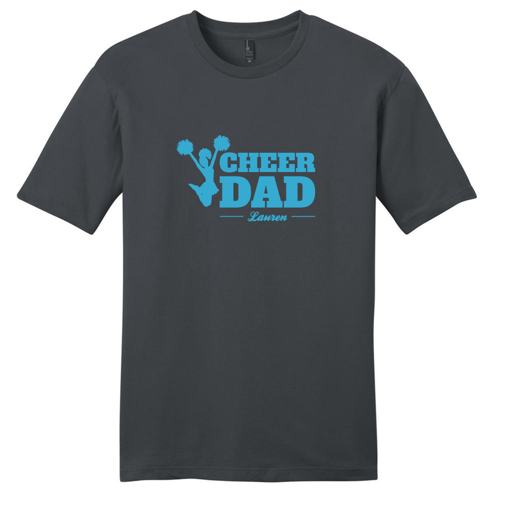 Charcoal Custom Cheer Dad T-Shirt