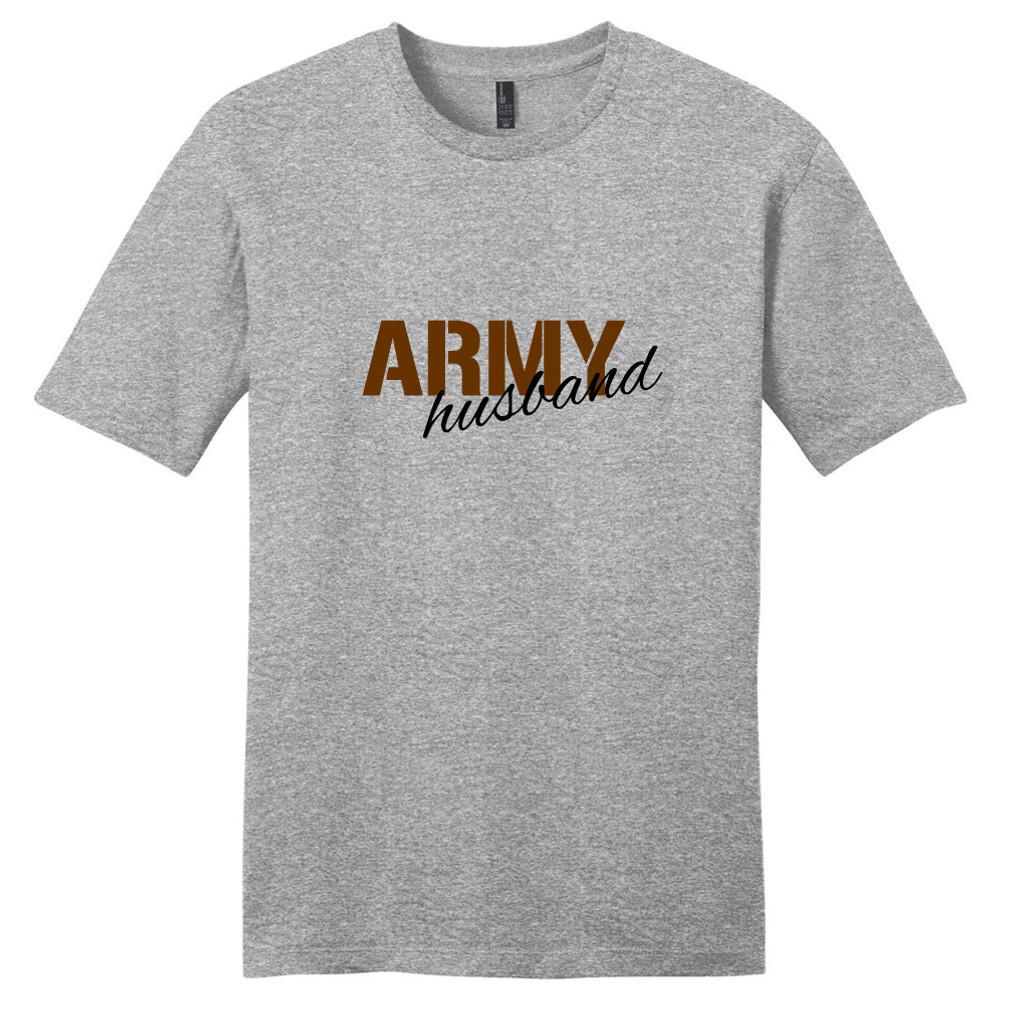 Light Heathered Gray Army Husband T-Shirt
