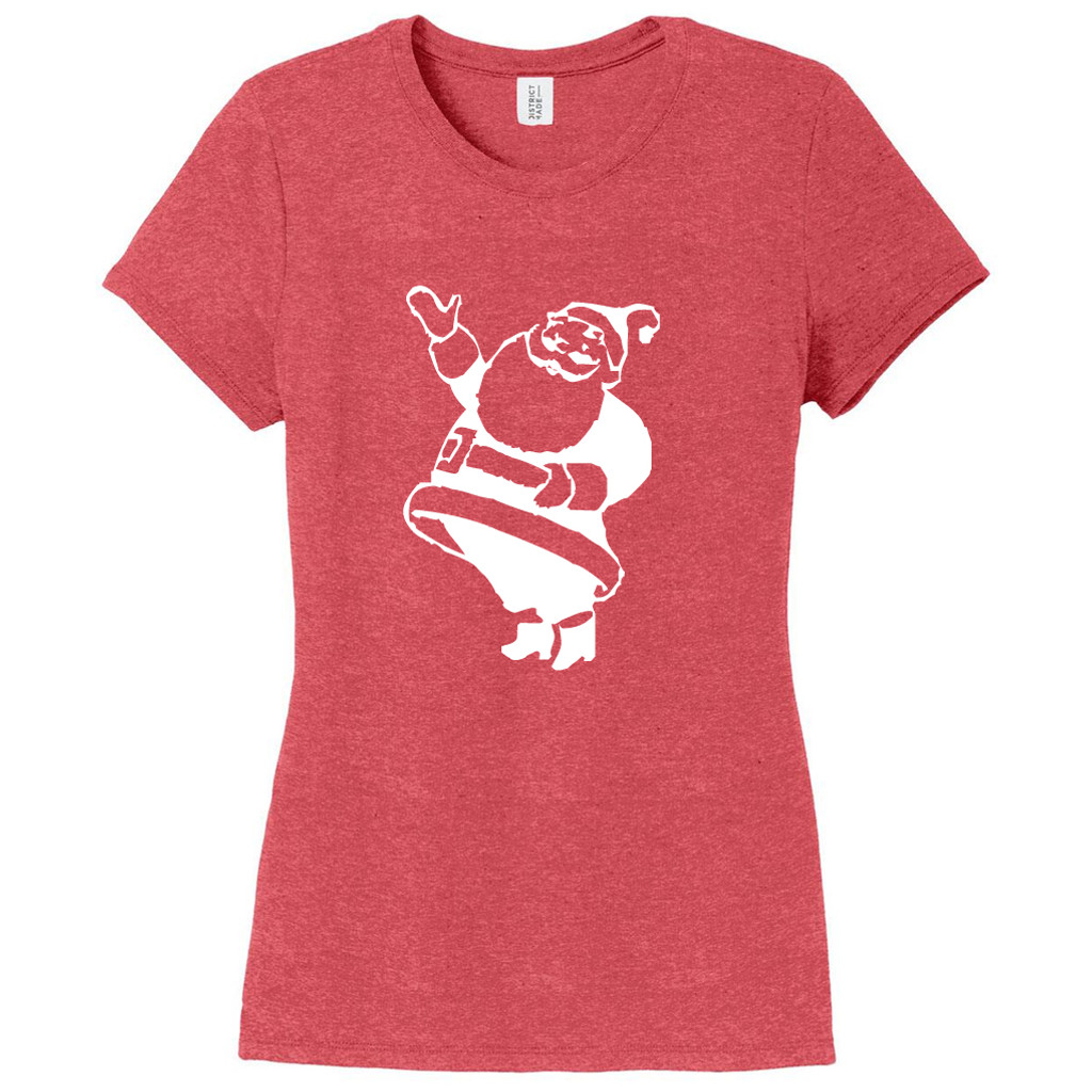 Red Frost Santa Claus Women's Fitted T-Shirt