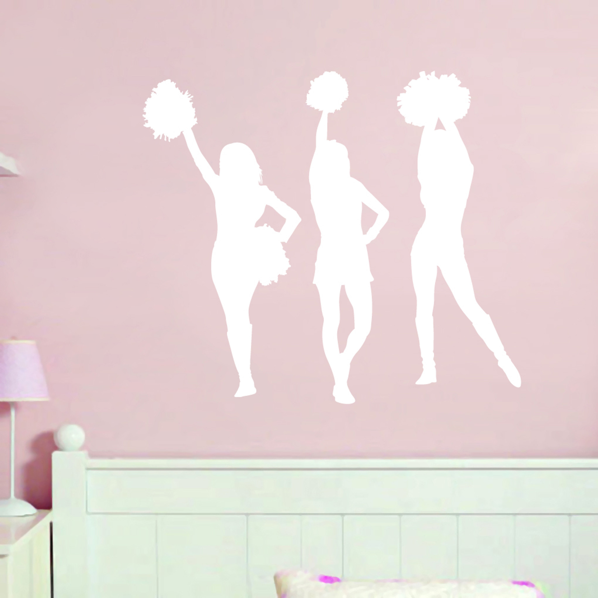 Cheerleaders wall decals wall art wall murals for Cheerleader wall mural