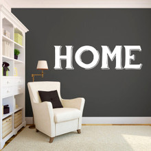 """Home Wall Decals 60"""" wide x 16"""" tall Sample Image"""