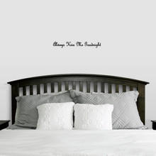 """Always Kiss Me Goodnight Wall Decal 24"""" wide x 3"""" tall Sample Image"""