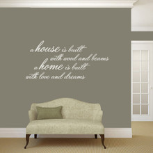 """A House Is Built Wall Decals and Stickers 48"""" wide x 22"""" tall Sample Image"""