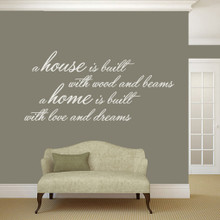 """A House Is Built Wall Decals and Stickers 60"""" wide x 28"""" tall Sample Image"""