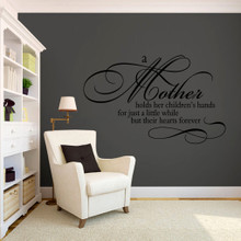 "A Mother Holds Her Children's Hands Wall Decals 48"" wide x 30"" tall Sample Image"