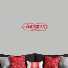 """American Wall Decals 24"""" wide x 8"""" tall Sample Image"""