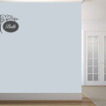 """Bath Sign Wall Decals 18"""" wide x 18"""" tall Sample Image"""