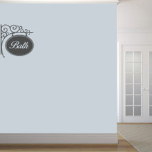 """Bath Sign Wall Decals 22"""" wide x 22"""" tall Sample Image"""