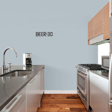 """BEER:30 Wall Decal 12"""" wide x 3"""" tall Sample Image"""