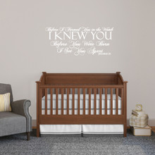 """Before I Formed You Wall Decals Wall Stickers 36"""" wide x 15"""" tall Sample Image"""