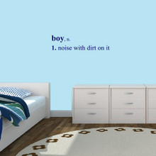"Boy Wall Decals Wall Stickers 36"" wide x 9"" tall Sample Image"