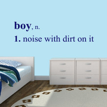 "Boy Wall Decals Wall Stickers 72"" wide x 18"" tall Sample Image"