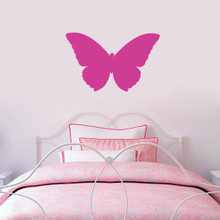 "Butterfly Silhouette Wall Decals 24"" wide x 15"" tall Sample Image"