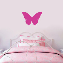 "Butterfly Silhouette Wall Decals 18"" wide x 12"" tall Sample Image"