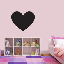 """Chalkboard Heart Wall Decals 24"""" wide x 20"""" tall Sample Image"""