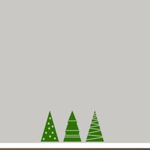 Christmas Tree Set Wall Decals Small Sample Image