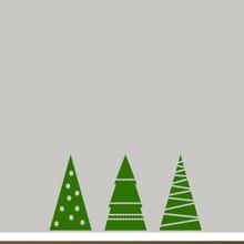 Christmas Tree Set Wall Decals Medium Sample Image