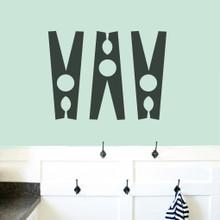 Set Of Clothespins Wall Decals Medium Sample Image