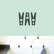 Set Of Clothespins Wall Decals Small Sample Image