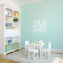 """Color Outside The Lines Wall Decals 24"""" wide x 20"""" tall Sample Image"""