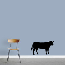 "Cow Wall Decals 36"" wide x 22"" tall Sample Image"