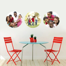 Custom Circle Photo Wall Decals and Stickers