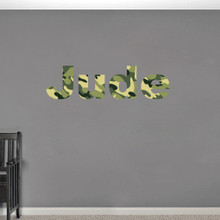 Custom Camo Name Printed Wall Decals and Stickers