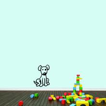 "Cartoon Dog Wall Decals 13"" wide x 18"" tall Sample Image"