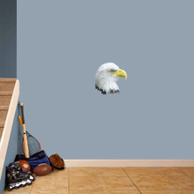 """Eagle Head Mascot Printed Wall Decals 12"""" wide x 12"""" tall Sample Image"""
