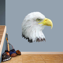 """Eagle Head Mascot Printed Wall Decals 36"""" wide x 36"""" tall Sample Image"""