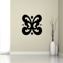"""Butterfly Flourish Wall Decal 22"""" wide x 22"""" tall Sample Image"""