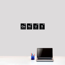 """Genius Periodic Table Wall Decals 24"""" wide x 6"""" tall Sample Image"""