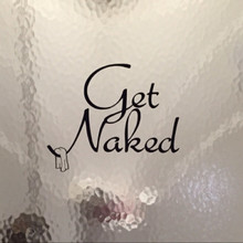 Get Naked Bathroom Fun Wall Decals Wall Stickers