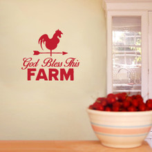 """God Bless This Farm Wall Decals 36"""" wide x 32"""" tall Sample Image"""