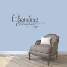 "Grandmas Wall Decals 36"" wide x 16"" tall Sample Image"