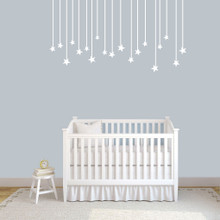 "Hanging Stars Wall Decals 60"" wide x 32"" tall Sample Image"