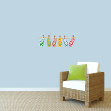 """Hanging Flip Flops Printed Wall Decals 24"""" wide x 8"""" tall Sample Image"""