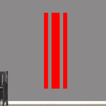 """Sport Stripe Wall Decals 22"""" wide x 72"""" tall Sample Image"""
