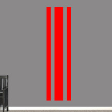 """Sport Stripe Wall Decals 22"""" wide x 84"""" tall Sample Image"""