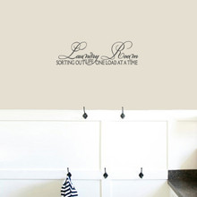 """Laundry Room Sorting Out Life Wall Decals 24"""" wide x 7"""" tall Sample Image"""