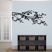 """Corner Leafy Branch Wall Decals 54"""" wide x 22.5"""" tall tall Sample Image"""