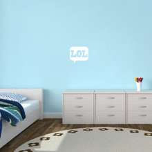 """LOL Wall Decals 12"""" wide x 11"""" tall Sample Image"""
