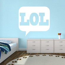 """LOL Wall Decals 48"""" wide x 46"""" tall Sample Image"""