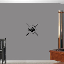 "Pool Billiards Wall Decals 14"" wide x 14"" tall Sample Image"