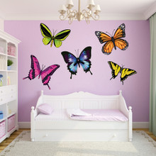 Butterflies Printed Wall Decals Large Sample Image