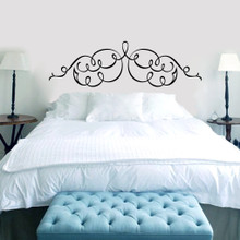 Scroll Headboard Wall Decals and Stickers