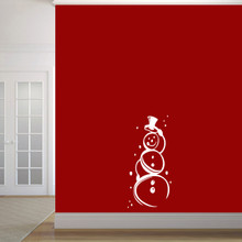 """Cute Snowman Wall Decal 17"""" wide x 36"""" tall Sample Image"""