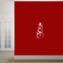 """Cute Snowman Wall Decal 12"""" wide x 24"""" tall Sample Image"""