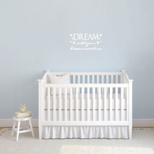 "Dream Until Your Dreams Come True Wall Decals 22"" wide x 11"" tall Sample Image"