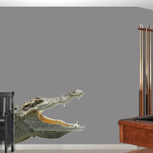 """Real Life Alligator Printed Wall Decals Wall Stickers 46"""" wide x 36"""" tall Sample Image"""